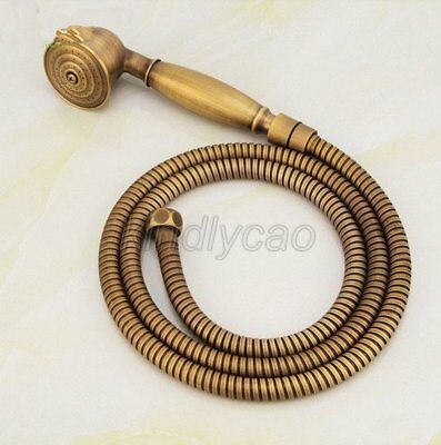 Antique Brass Bathroom Handheld Shower Head with 1.5m Shower Hose Kx117