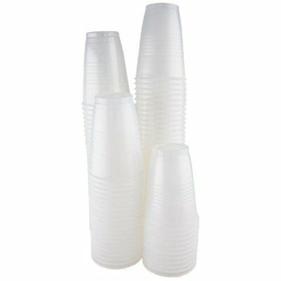 New 7 Oz. Plastic Clear/Transparent Cups - 200 Count Bulk Pack (2 Packs Of 100)