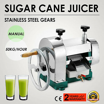Manual Sugar Cane Ginger Press Juicer Handwheel Juice Machine Extractor NEW
