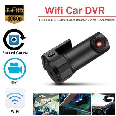 Car Hidden WIFI Dash Cam DVR Camera Digital Video Recorder 1080P TF