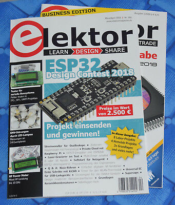 Elektor 02 03/2018 März April Nr. 560 Doppelheft + Elektor Business