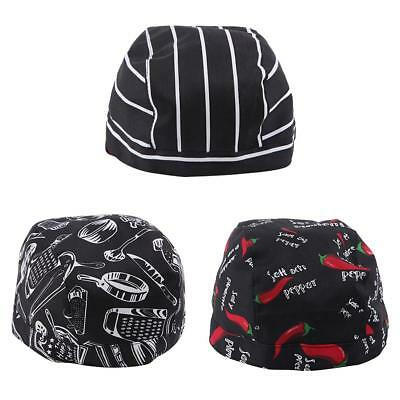 3pcs Chef Hat Provides relief from kitchen heat, Breathable, Adustable Strap