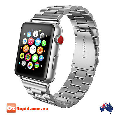 Apple Watch Band 42mm Stainless Steel iWatch Swees Series 2 3 1 Strap New Silver