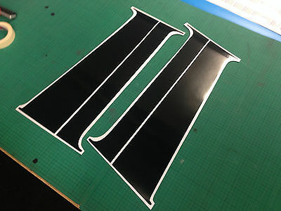 VW T5/T6 Transporter B Pillar Decal Sticker Gloss Black Vinyl *NEW*
