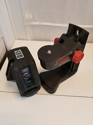 Bosch Gll 3-50 Line Laser & BM 1 Professional Wall Mount & Laser Clamp