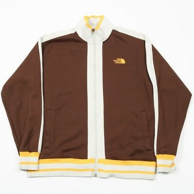 Vintage THE NORTH FACE Full Zip Brown Jacket | Mens L | Retro Track Tracksuit