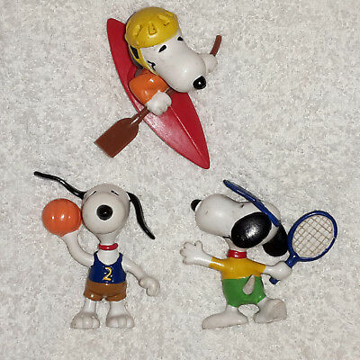 Peanuts Figuren Snoopy Handball Tennis Kanu United Feature 1958 / 66 Sammlung