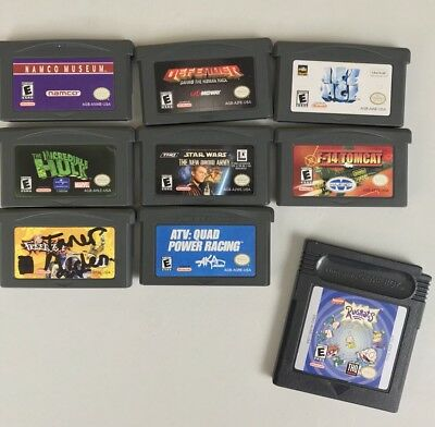 GAME BOY ADVANCE Misc  Games Lot 9 GBA And 1 Gameboy Cart (SB3)