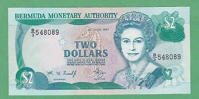 Bermuda 2 Dollar Note P-40Ab  UNCIRCULATED