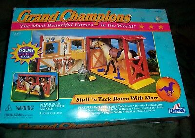 Empire Grand Champions Horse Stall Tack Room With Lusitano Mare New In Box 1997