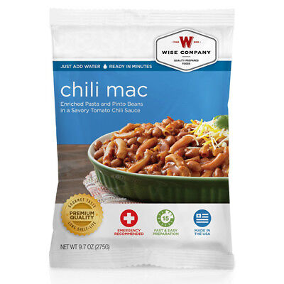Wise Foods Gourmet Taste Premium Quality 4 Servings Chili Macaroni - 9.7 Ounce