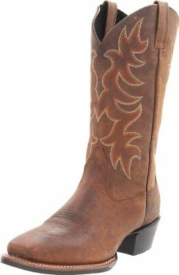 Laredo Men's Piomosa Western Boot with Fancy Stitched Shaft & Cushioned Insole
