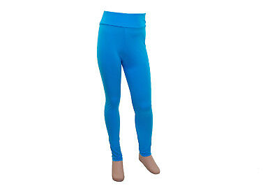 Footless Tights High Waist Kingfisher Lycra- Age 9-10 - SALE