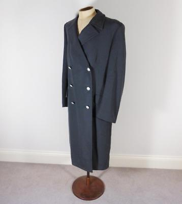 German Military Army Man's Grey Blue Greatcoat Size 42 - Steampunk