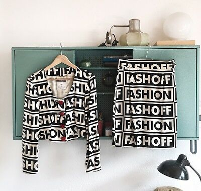 Iconic Moschino Couture 1990 Fashion Fashoff Two Piece Ensemble As Worn By M.I.A