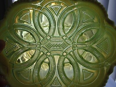 Rare Yellow Antique Davidson Pearline~ Vaseline~ Uranium~ Rings Glass Bowl~Dish
