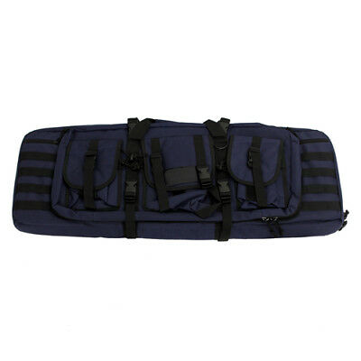 "NcStar 36"" Heavy Duty PVC Construction Double Carbine Case - Blue w/ Black Trim"