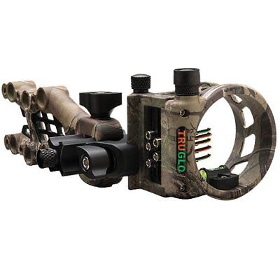 Truglo Lightweight Carbon Hybrid Micro Adjust 5 Unique Metal Pin Bow Sight