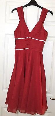 Astrapahl Red Cocktail Dress Size 10 UK C008008 New With Tags