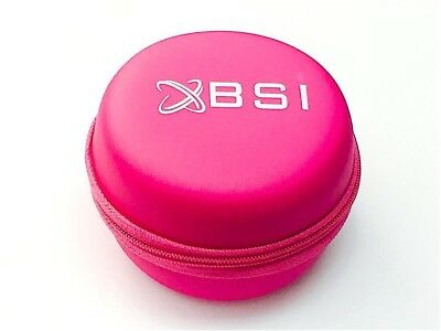 BSI Pink Carrying Leather Case For Sennheiser IE 80 IE 60 Clip-On Earbuds