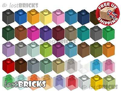 Part 2458 FREE POST + SELECT COLOUR 10 Pack of NEW LEGO Bricks 1x2 with Pin