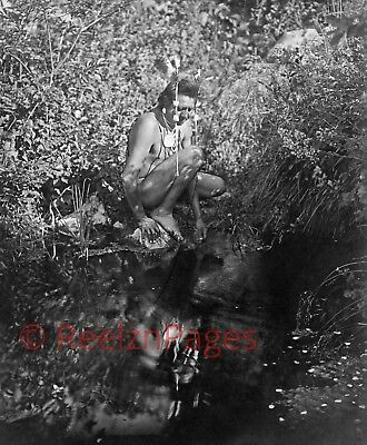 New Art Print of c.1905 Edward Curtis Photo Crow Indian By Water Montana 11X17
