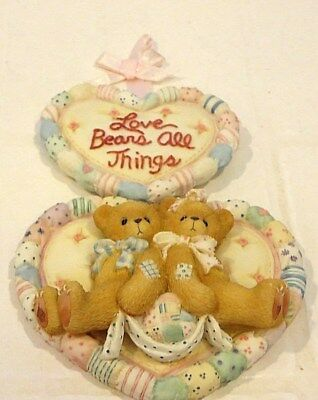 Cherished Teddies - Love Bears All Things - Bears Heart Plaque