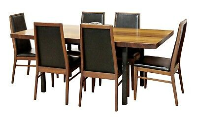 Mid Century Modern Milo Baughman Directional Dining Table Dillinghman 6 Chairs