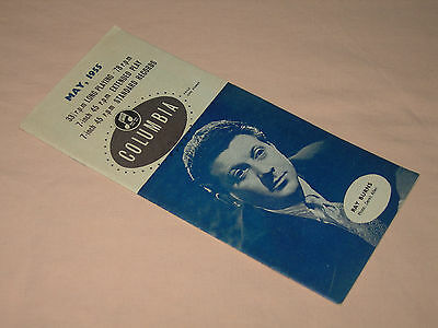 Columbia Records Catalogue Brochure New Releases May 1955 Ray Burns