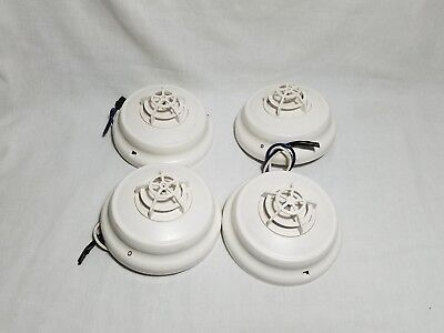 [Lot of 4] Simplex 4098-9733 Heat Detector with 4098-9789 Base Fire Alarm