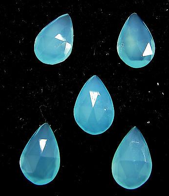 14.95 Ct Natural Blue Chalcedony Loose Faceted Gemstone Lot of 5 Pcs - 10850