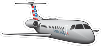 Embraer ERJ-145 American Eagle aircraft sticker