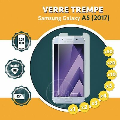 LOT X1 À X50: ViTRE FILM PROTECTION ÉCRAN EN VERRE TREMPÉ SAMSUNG GALAXY A5 2017