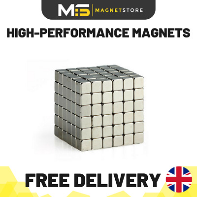 NEW Super Strong Magnets 5 x 5 x 5 mm Cube Block Square Neodymium Rare Earth
