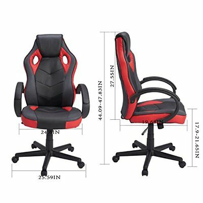 Executive Office Computer Gaming Chair High Back Leather Swivel Task Desk Chair