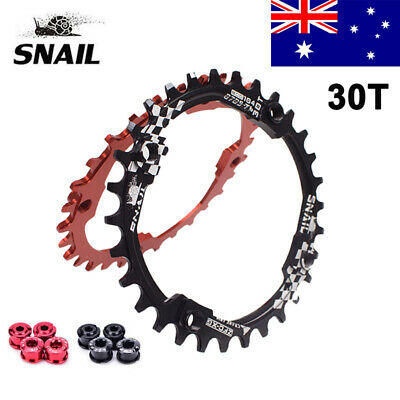SNAIL 104bcd 30T MTB Bike Chainring Round Narrow Wide Single Cycling Chainwheel