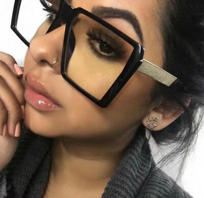 OVERSIZED VINTAGE RETRO Style Clear Lens Square Frame EYE GLASSES
