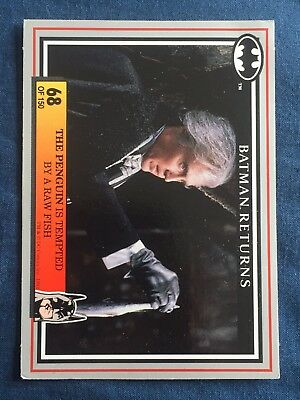 1992 Batman Returns DC Comics Card #68 The Penguin Is Tempted By A Raw Fish