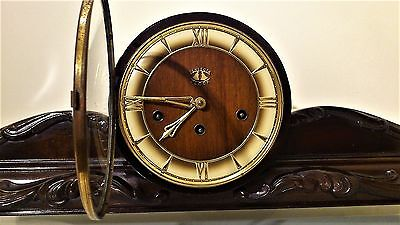 LARGE Vintage German 8-Day Mantel / Bracket Clock with Westminster Chimes.