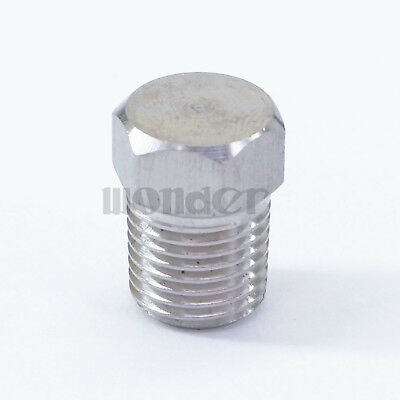 """1/4"""" BSPT male End Cap 304 stainless steel Countersunk Plug hex head"""