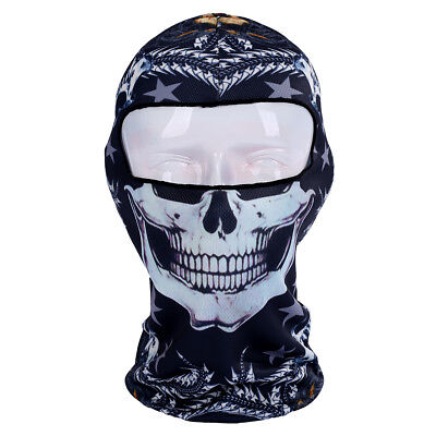 3D Neck gaiter skull head pattern Balaclava motocycle tube scarf face mask adult