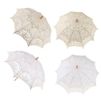 Lovely Women Lace Parasol Wedding Bridal Photography Hand Held Prop