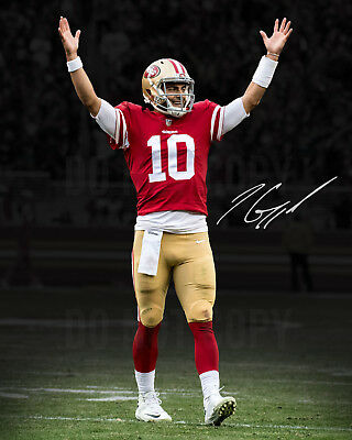 Jimmy Garoppolo Signed Photo 8X10 Rp Autographed San Francisco 49Ers Reprint