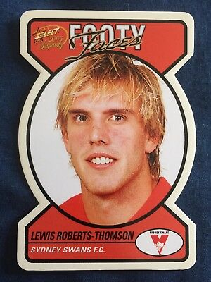 Select AFL Footy Faces Card Sydney Swans Lewis Roberts-Thompson