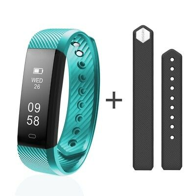 (Green) - Smart Bracelet, Diggro ID115HR IP67 Waterproof Fitness Tracker Heart