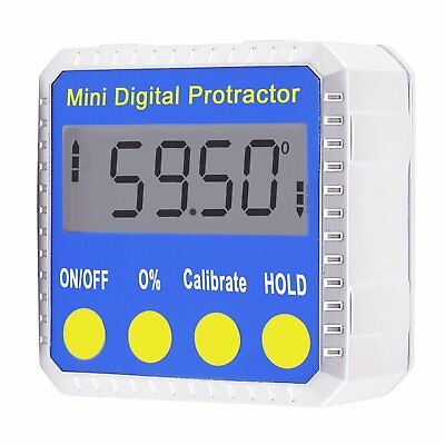 Digital BEVEL BOX Inclinometer Angle Gauge Meter Protractor Read Upright Magnets