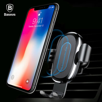 NEW Baseus Car Mount Qi Wireless Charger for Samsung Galaxy S9 & S9 Plus