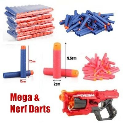 100 500 NERF Gun Refill Soft Darts Bullets Toy Gun N -Strike Round Head Blast UK
