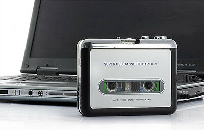 Tape to PC USB Cassette to MP3 Converter Captue Adapter Audio Music Player
