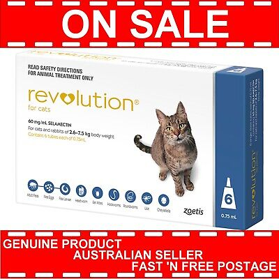 Revolution for Cats 2.6-7.5kg 6 Pack